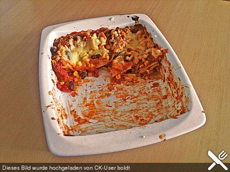 Mexikanische Lasagne vegan