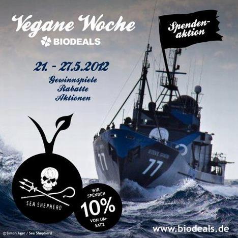 Vegane Woche bei Biodeals mit Spendenaktion für Sea Shepherd und Verlosungen