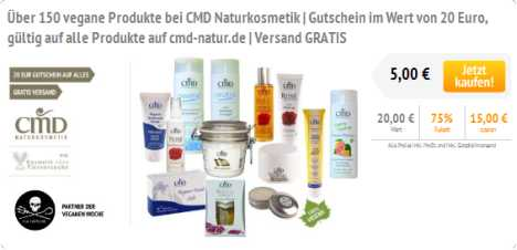 CMD Naturkosmetik Gutschein bei greenest green