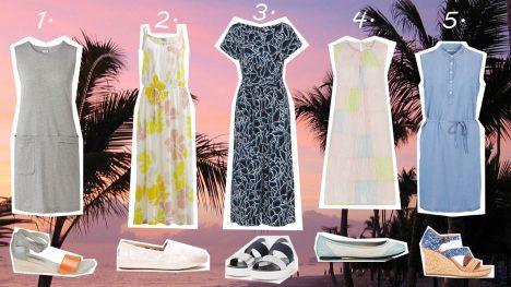 Sommerkleider und passende Schuhe im Sale