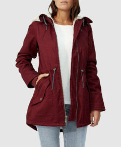 ladies-hoodlamb-parka-burgundy