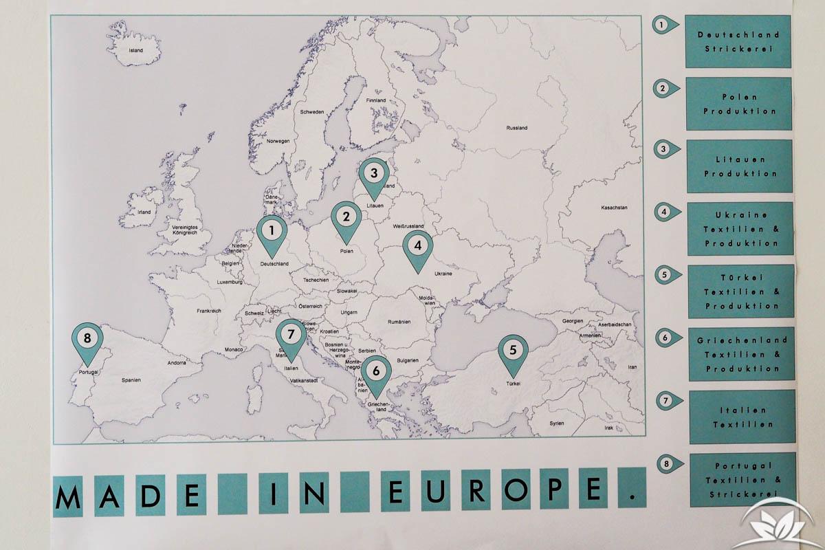 Schneidereien in Europa für Lana