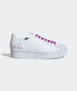 "adidas Originals ""Superstar Bold Vegan"" Cloud White / Cloud White / Shock Purple"