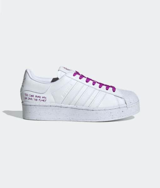 "adidas Originals ""Superstar Bold Vegan"" Cloud White / Cloud White / Shock Purple"