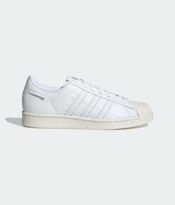 "adidas Originals ""Superstar Vegan"" Sneaker Cloud White / Off White / Green"