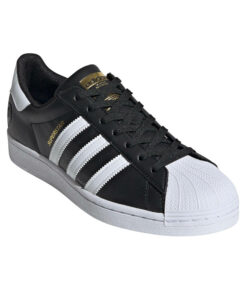 "adidas Originals ""Superstar Vegan"" Sneaker Core Black / Cloud White / Gold Metallic"