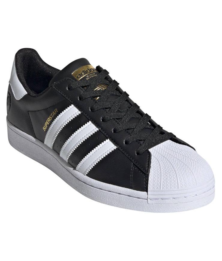 "adidas Originals ""Superstar Vegan"" Sneaker Core Black / Cloud White / Gold Metallic"