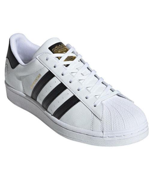 "adidas Originals ""Superstar Vegan"" Sneaker Cloud White / Core Black / Green"