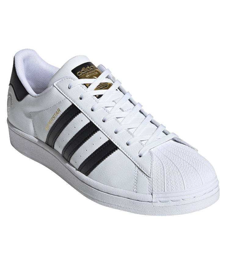 "adidas Originals ""Superstar Vegan"" Sneaker Cloud White / Core Black / Green"