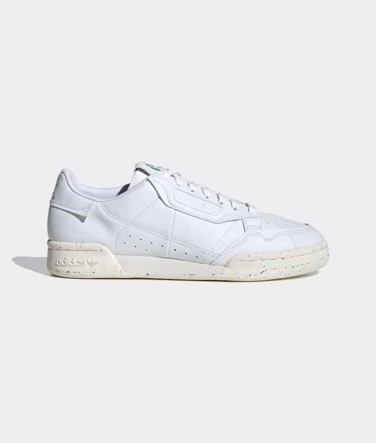 "adidas Originals ""CONTINENTAL 80 VEGAN"" Sneaker Cloud White / Off White / Green"
