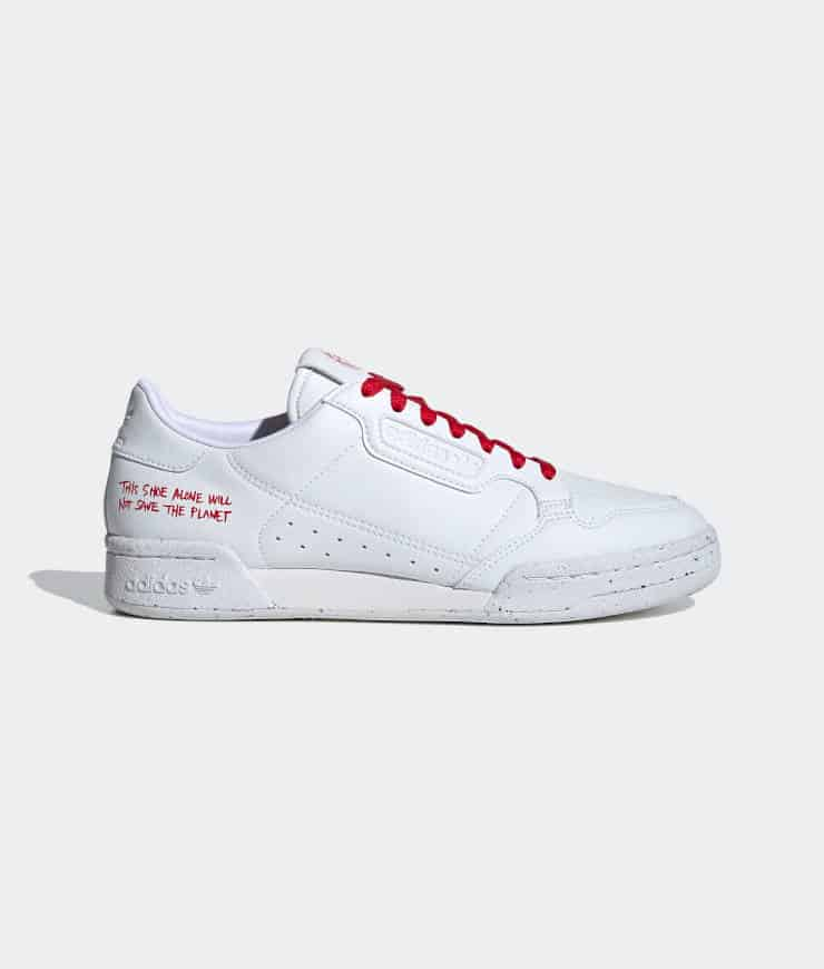 "adidas Originals ""CONTINENTAL 80 VEGAN"" Sneaker Cloud White / Cloud White / Scarlet"