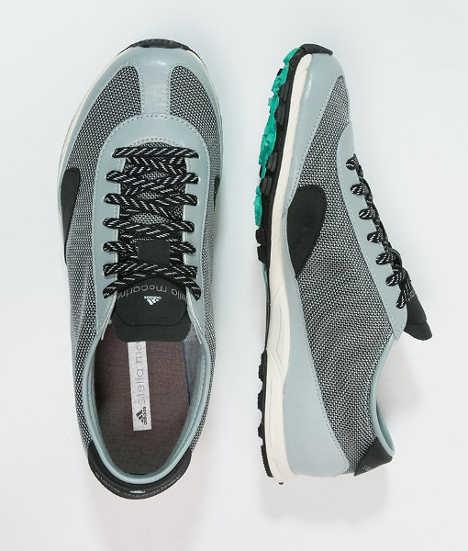 adidas by Stella McCartney TRACK AND STREET - Laufschuh Trail - eggshell/silver metallic/mint down