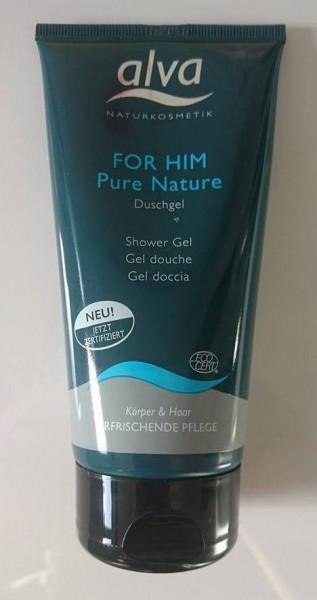 Im Test: alva for him Pure Nature Duschgel