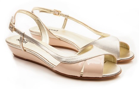 Beyond Skin: June - Nude faux patent with gold