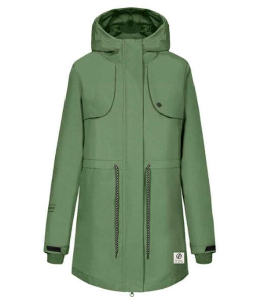 bleed Active Mantel Damen SYMPATEX® grün