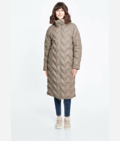Derbe Damen Wintermantel Interlink Long Girls RC brindle