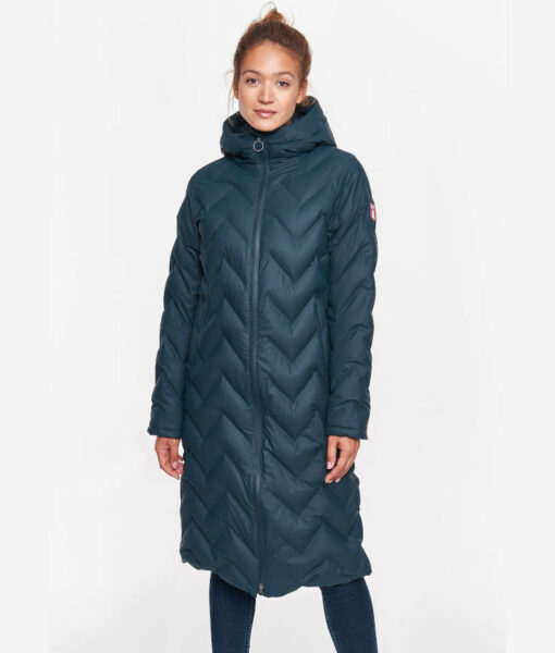 Derbe Damen Wintermantel Interlink Long Girls RC navy