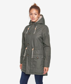 Derbe Damen Winterparka Festland Friese olive