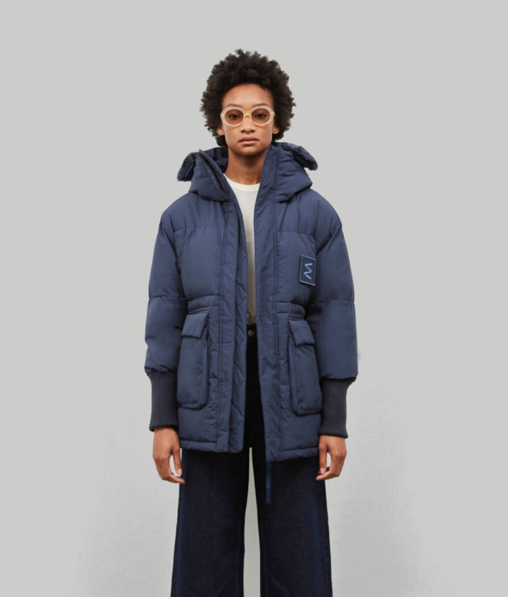 Embassy of Bricks and Logs vegane Winterjacke Hallifax blau