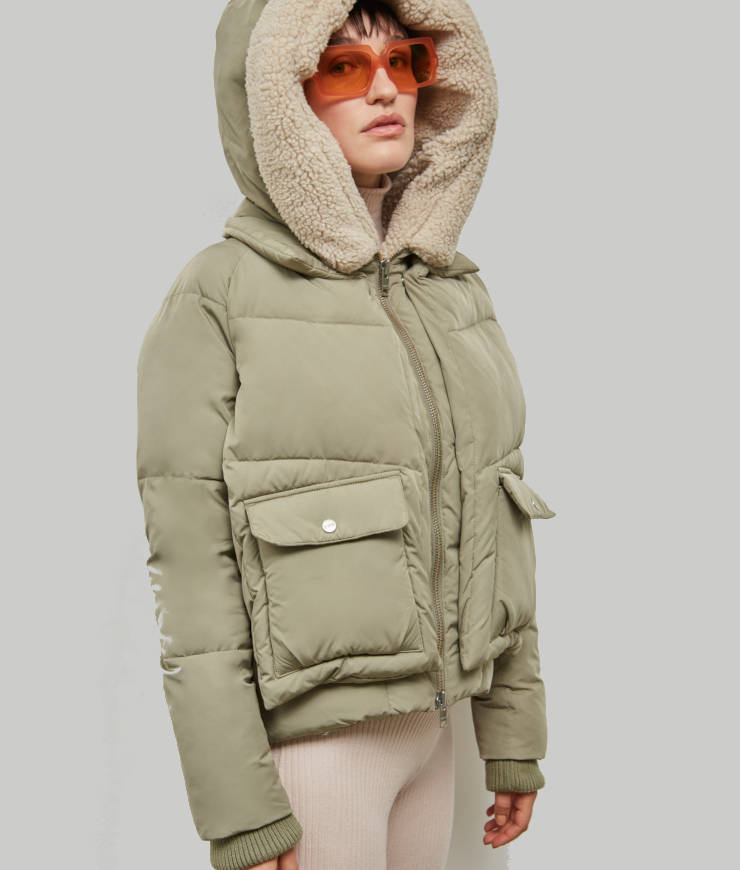 """Embassy of Bricks and Logs Winterjacke """"Leicester"""" pale olive"""