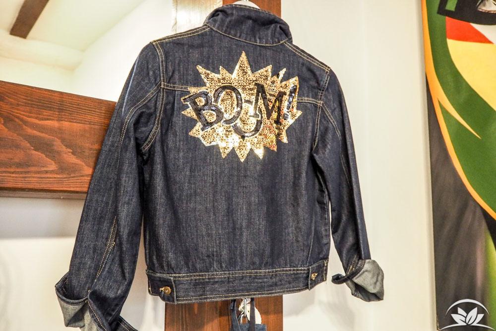 Jeansjacke mit individualisierbarem Patch