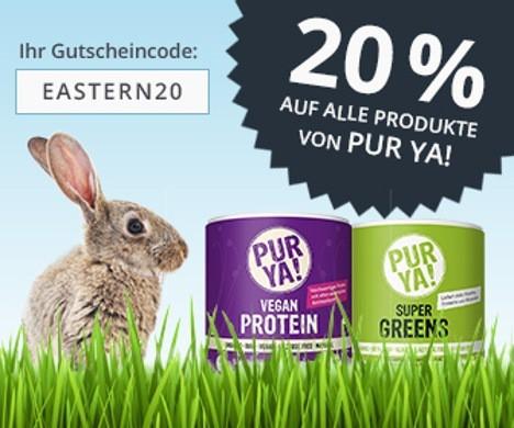20% Rabatt auf PURYA! mit goodfoodshop Gutschein
