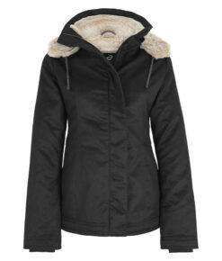 Hemp Hoodlamb Winterjacke Ladies Classic Hoodlamb black