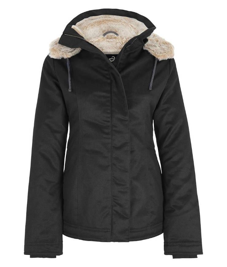 Hemp Hoodlamb Winterjacke Ladies Classic Hoodlamb black