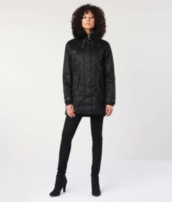 Hemp Hoodlamb Winterparka Ladies Nordic Light Parka nightwatch black