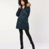 Hemp Hoodlamb Winterjacke Ladies Nordic Parka midnight blue
