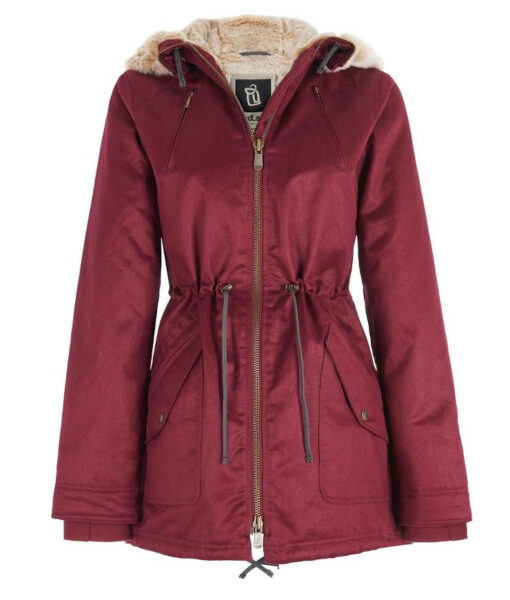 Hemp Hoodlamb Winterjacke Ladies burgundy