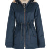Hemp Hoodlamb Winterjacke Ladies Midnite Blue