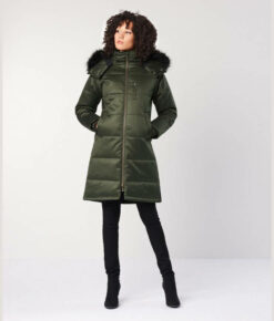 Hemp Hoodlamb Ladies Nordic Puffer deep army green