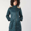 Hemp Hoodlamb Winterjacke Ladies Long Coat Sky Blue