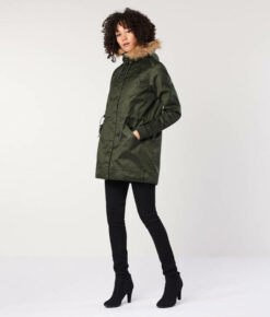 Hemp Hoodlamb Winterparka Ladie' Nordic Light Parka deep army green