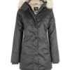 Hemp Hoodlamb Winterparka Ladies Nordic grey