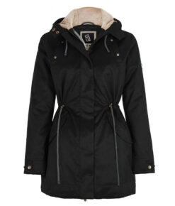 Hemp Hoodlamb Winterparka Ladies Nordic Parka Lights black