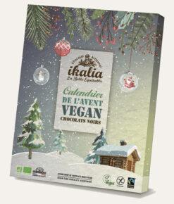 Ikalia Adventskalender vegane Zartbitter-Schokolade
