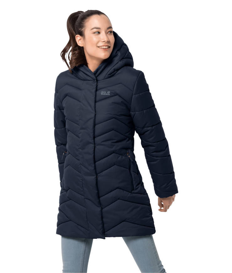 Jack Wolfskin Kyoto Coat vegane Winterjacke Damen midnight blue