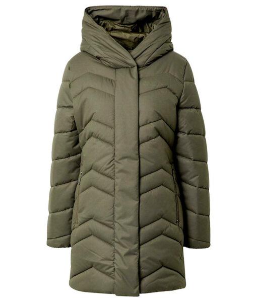 Jack Wolfskin Kyoto Coat vegane Winterjacke Damen olivgrün