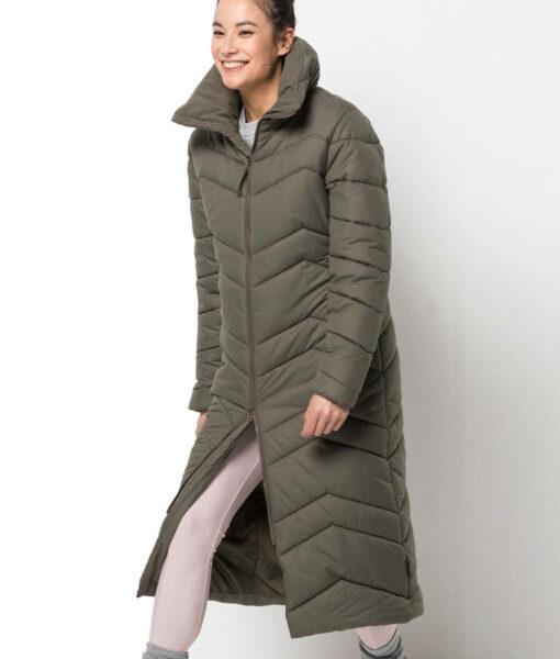 Jack Wolfskin Kyoto Long Coat Wintermantel Damen olivgrün