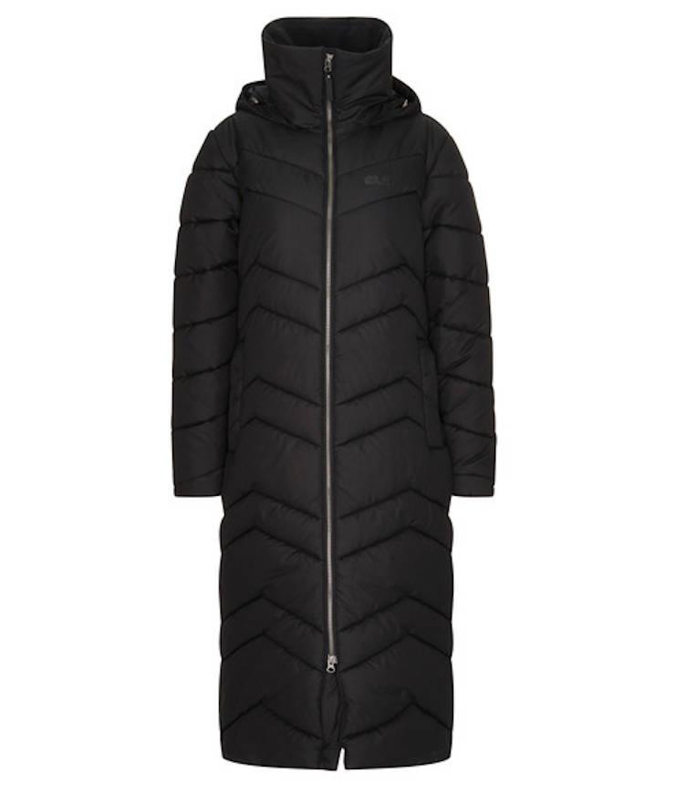 Jack Wolfskin Kyoto Long Coat Wintermantel Damen schwarz