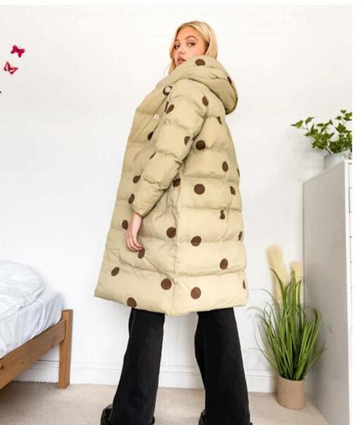 """jakke """"Laura"""" Steppmantel aus recyceltem Polyester beige"""