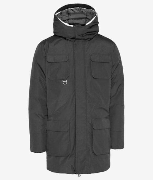 KnowledgeCotton Apparel Arctic Canvas Parka Jacket grau