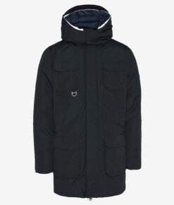 KnowledgeCotton Apparel Arctic Canvas Parka Jacket total eclipse