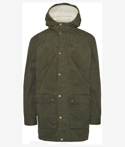 Knowledge Cotton Apparel Nordic Legacy Expedition Long Jacket forrest night