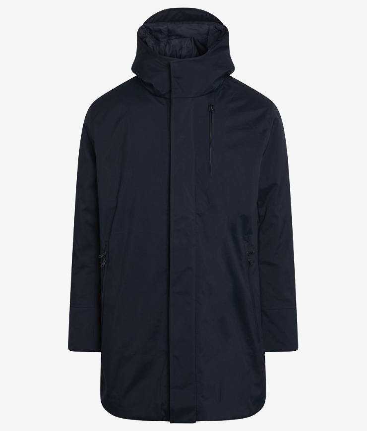 KnowledgeCotton Apparel Jacke Climate Shell blau