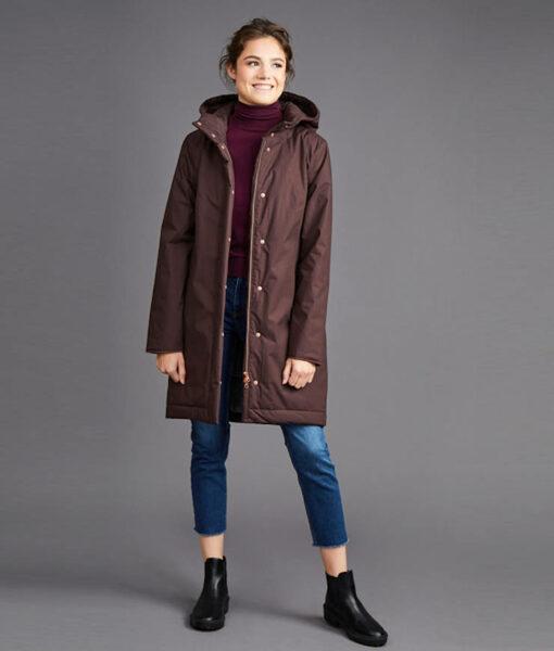 Langerchen Damen Coat Ariza mahogany