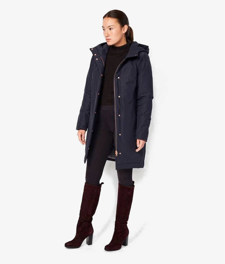 Langerchen Damen Coat Ariza navy