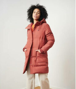 Langerchen Damen Puffermantel Coat Aike rooibos